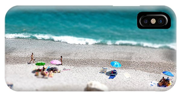 Seashore iPhone Case - Tilt Shift Of Ocean Beach View With by Gaudilab