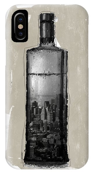 Bar iPhone Case - Time In A Bottle 1- Art By Linda Woods by Linda Woods