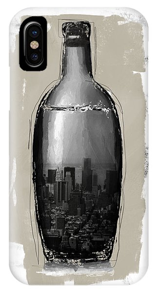 Cart iPhone Case - Time In A Bottle 2- Art By Linda Woods by Linda Woods
