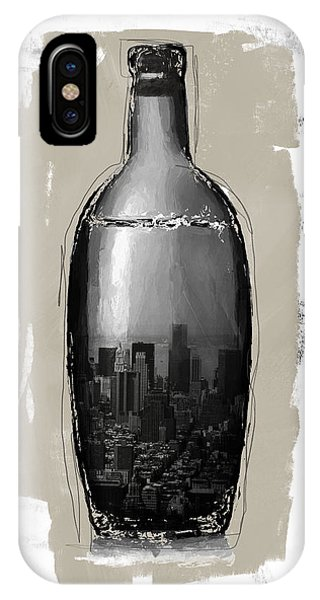 Bar iPhone Case - Time In A Bottle 2- Art By Linda Woods by Linda Woods