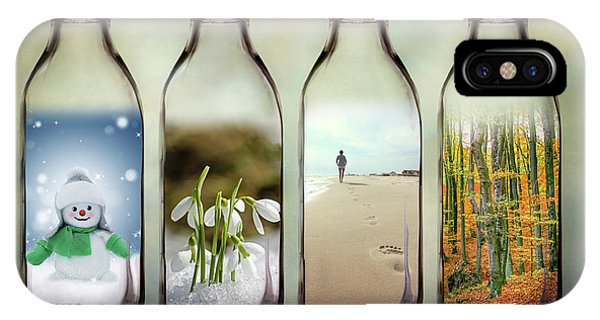 Season iPhone Case - Time In A Bottle - The Four Seasons by Tom Mc Nemar