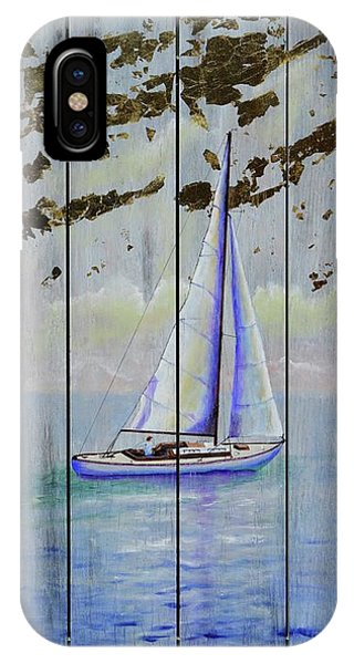 IPhone Case featuring the painting Time To Sail by Mary Scott