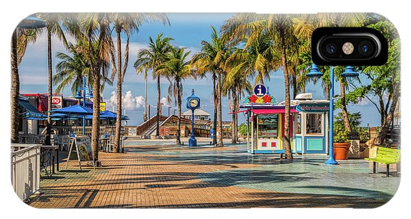 Florida iPhone Case - Times Square In Fort Myers Beach Florida by Tom Mc Nemar