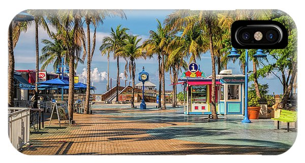Fort iPhone Case - Times Square In Fort Myers Beach Florida by Tom Mc Nemar