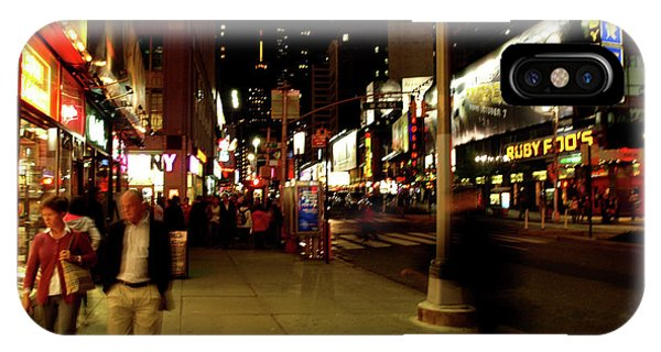 IPhone Case featuring the photograph Time Square, One by Edward Lee