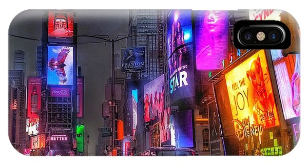 Times Square - The Light Fantastic 2016 IPhone Case