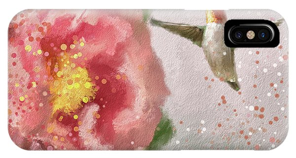 Humming Bird iPhone Case - Tiny Dancer by Lois Bryan