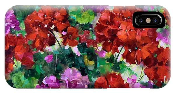 iPhone Case - Tipping Point Geraniums by Nancy Medina
