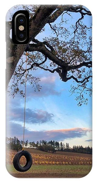 IPhone Case featuring the photograph Tire Swing Tree by Brian Eberly