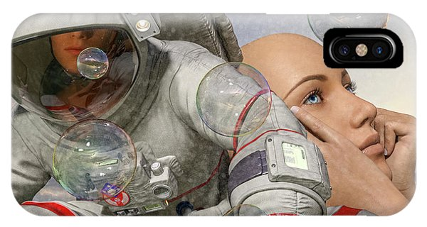 Astronaut iPhone Case - Today Inspires Tomorrow  by Betsy Knapp