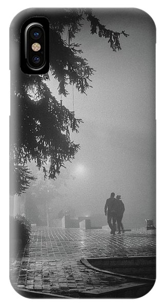 IPhone Case featuring the photograph Together In Fog, Sa Pa, 2014 by Hitendra SINKAR