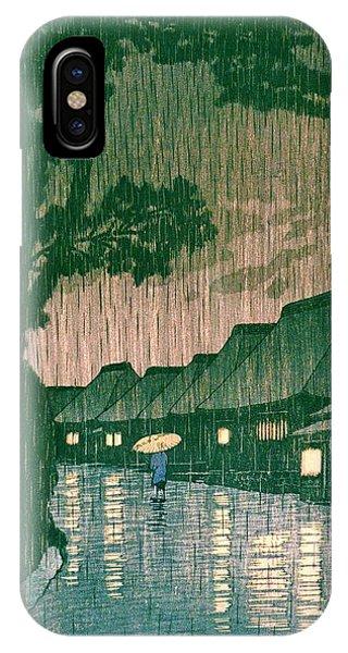 Umbrella Pine iPhone Case - Tokaido Maekawa - Top Quality Image Edition by Kawase Hasui