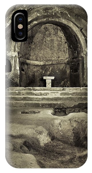 Tomb And Altar In The Monastery Of San Pedro De Rocas IPhone Case