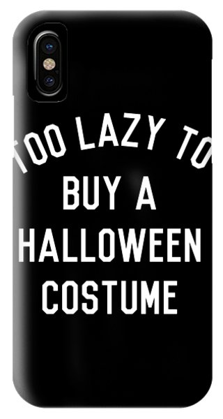 Too Lazy To Buy A Halloween Costume IPhone Case
