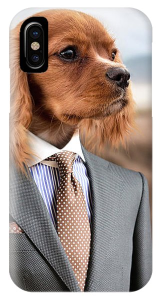 IPhone Case featuring the digital art Top Dog Magazine by ISAW Company