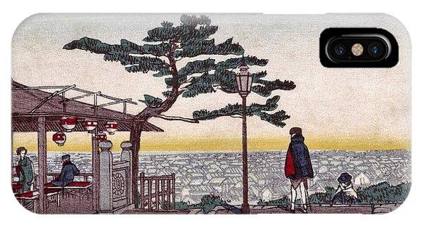 Upland iPhone Case - Top Quality Art - Mount Atago by Inoue Yasuji