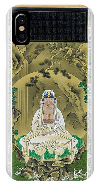 Worship iPhone Case - Top Quality Art - White Robed Kannon by Sakai Hoitsu