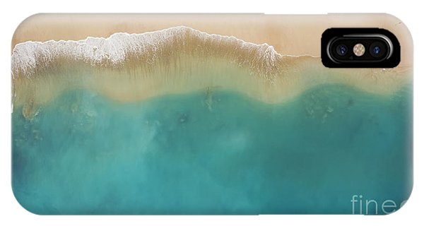 Seashore iPhone Case - Top View Aerial Photo From Flying Drone by Gaudilab