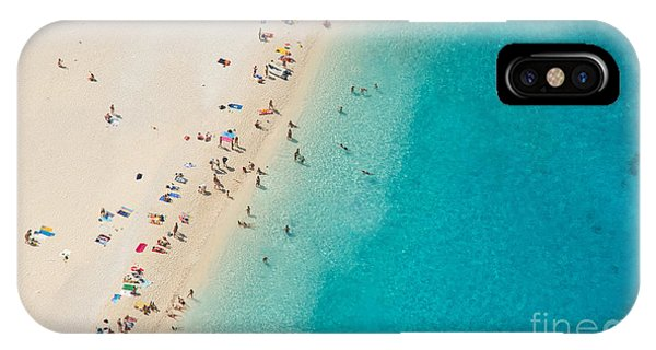 Hobby iPhone Case - Top View Of Beautiful Dreamy Beach by Jag cz