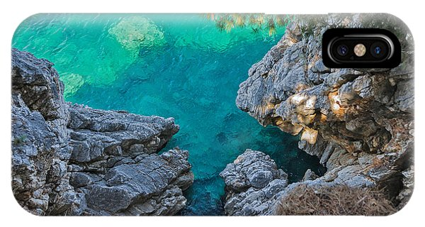 Seashore iPhone Case - Top View Of Cliffs, Bays, Clear Sea by Kato.72