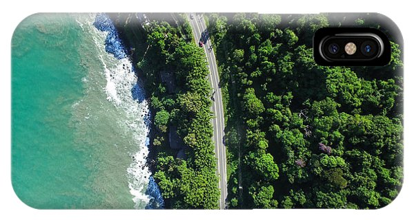 South America iPhone Case - Top View Of Highway In A Coastline by Gustavo Frazao