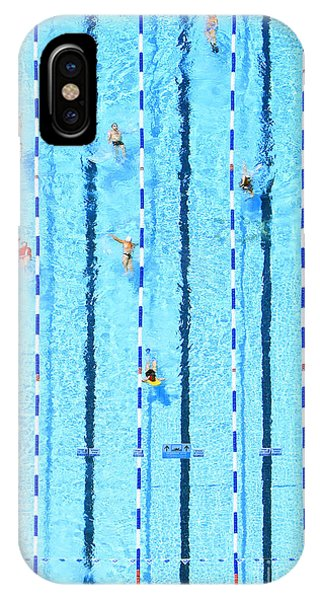 Male iPhone Case - Top View On Pool With Blue Water And by Protasov An