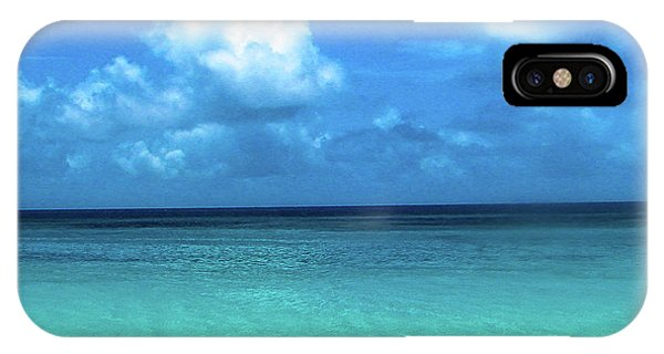 Topical Beach View Anguilla IPhone Case