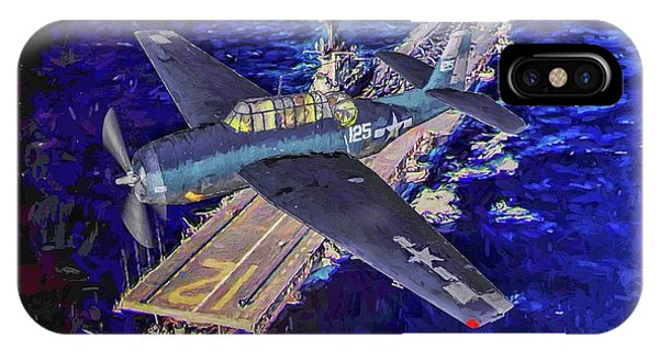 Uss Hornet iPhone Case - Torpedo Squadron Seventeen - Oil by Tommy Anderson