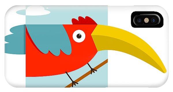 Parrots iPhone Case - Toucan Bird With Big Beak Sitting by Popmarleo