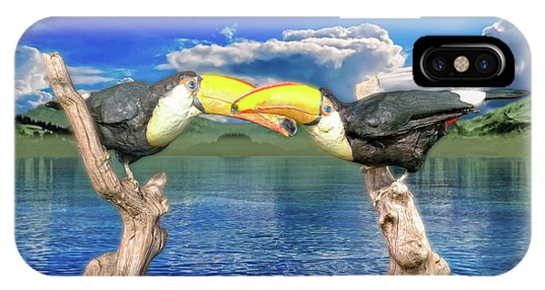 Avian iPhone Case - Toucans In Love  by Betsy Knapp