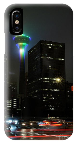 IPhone Case featuring the photograph Tower Glow by Brad Allen Fine Art