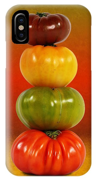 Tower Of Colorful Tomatoes IPhone Case