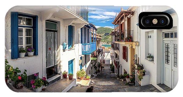 Town Of Skopelos IPhone Case