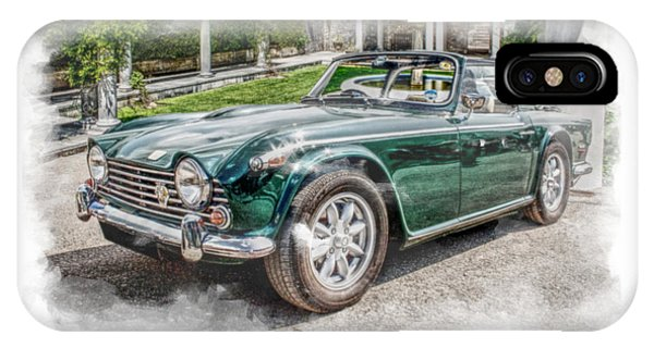 Triumph Tr5 At Roman Gardens IPhone Case