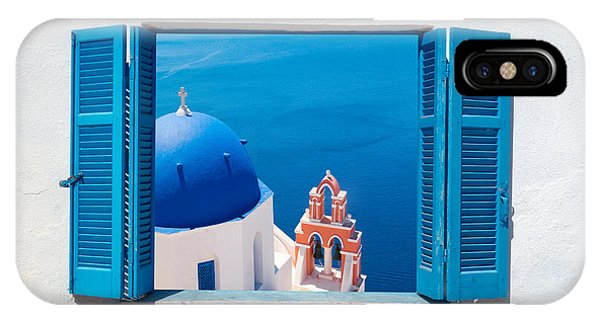 Hotel iPhone Case - Traditional Architecture Of Oia Village by Yiannis Papadimitriou