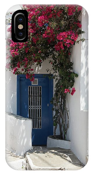 IPhone Case featuring the photograph Traditional Greek Island House Entrance by Michalakis Ppalis