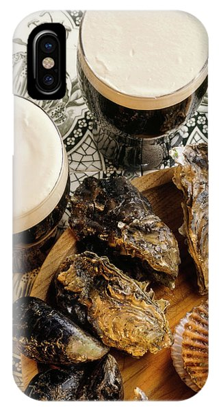 Oyster Bar iPhone Case - Traditional Irish Guiness And Oysters by The Irish Image Collection