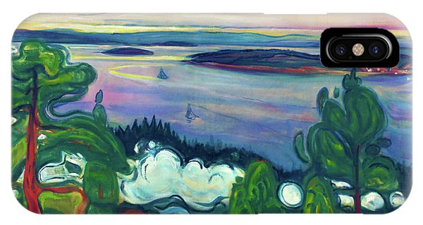 Smoke Fantasy iPhone Case - Train Smoke - Digital Remastered Edition by Edvard Munch