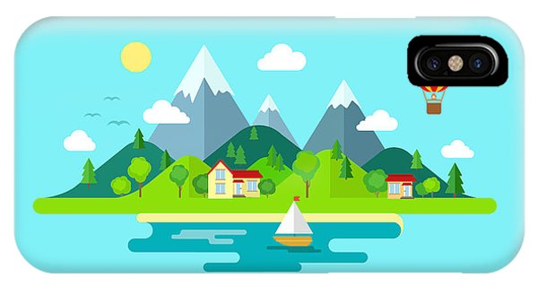 Harmony iPhone Case - Travel Mountains Island Landscape And by Sentavio