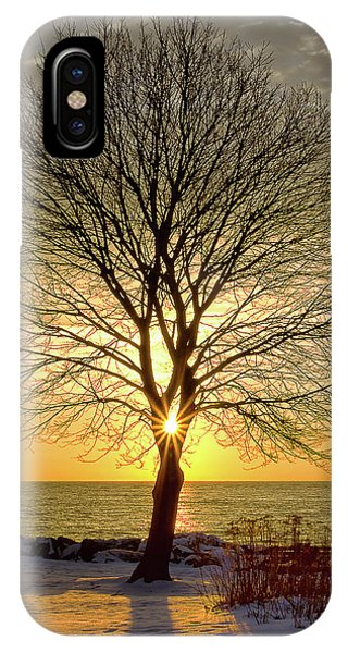IPhone Case featuring the photograph Tree Framed Sunrise New Hampshire by Nathan Bush