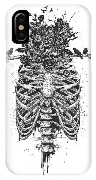 Skull iPhone Case - Tree Of Life by Balazs Solti