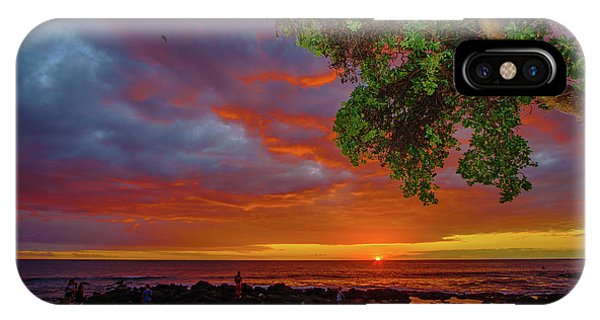 Tree  Sea And Sun IPhone Case