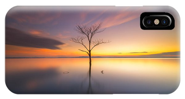 Flooded iPhone Case - Trees Submerged In The Flooded The Time by Worawit j