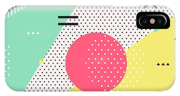 Pastel Colors iPhone Case - Trendy Geometric Elements Memphis by Bosotochka