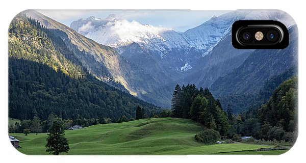 IPhone Case featuring the photograph Trettachtal, Allgaeu by Andreas Levi