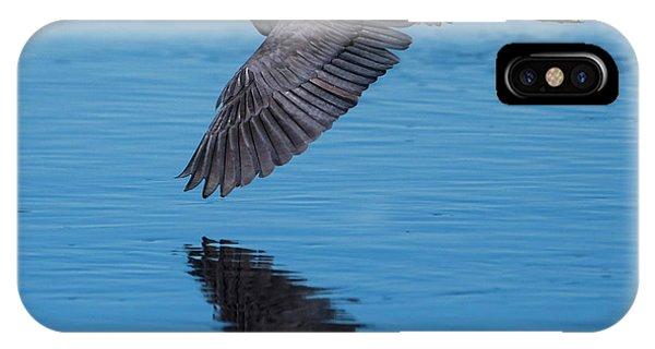 Tri-colored Heron In Flight IPhone Case