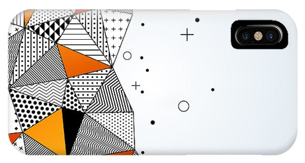 Space iPhone Case - Triangle Pattern Background. Vector by Kotoffei