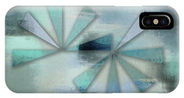 Triangles On Blue Grey Backdrop IPhone Case