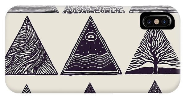 Space iPhone Case - Triangles Set. Vector Illustration by Jumpingsack