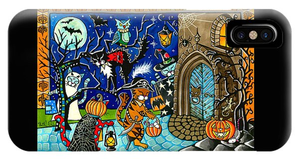 Trick Or Treat Halloween Cats IPhone Case